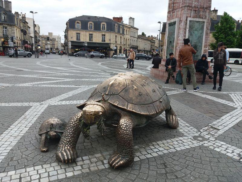 Les tortues réalisées par Ivan Theimer à Bordeaux, photo: Magdalena Hrozínková