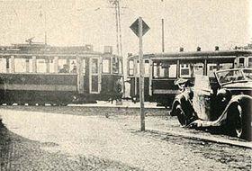 Coche de Heydrich (a la derecha), Kobylisy