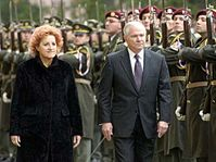 Robert Gates a Vlasta Parkanová, foto: ČTK