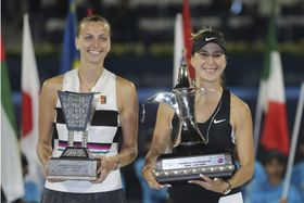 Petra Kvitová y Belinda Bencic, foto: ČTK/AP/Kamran Jebreili