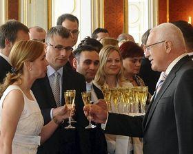 Václav Klaus a remis le décret à 38 nouveaux juges, photo: CTK