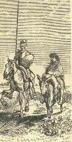 Don Quijote y Sancho Panza, ilustración de Quido Manes