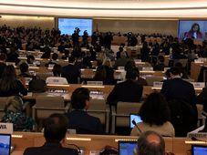 La session annuelle du Conseil des droits de l'homme (CDH) de l'ONU, photo: Twitter de MZV