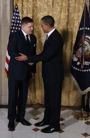 Robert Fico y Barack Obama, foto: ČTK