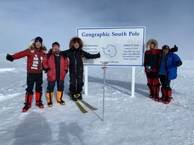 Pavel Sehnal (third from the left) conquered  the South Pole with five other adventurers on January 13, photo: Archive of Knowlimits