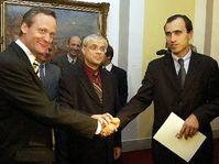 Cyril Svoboda, Vladimir Spidla et Ivan Pilip (Photo: CTK)
