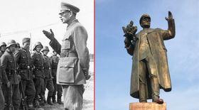 Генерал Власов и памятник маршалу Коневу в Праге, коллаж: Radio Prague Int.