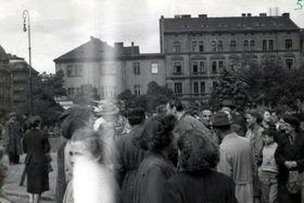 Proteste in Pilsen 1953 (Foto: Archiv des Staatlichen Bezirksarchivs České Budějovice)