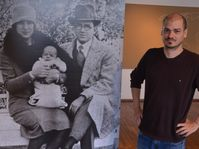 Ramiro Guevara y la primera foto de su hermano mayor Ernesto Che Guevara, foto: David Koubek, ČRo