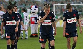 Disappointed players of Slavia Prague, photo: CTK