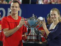 Tomáš Berdych, Petra Kvitová, photo: CTK