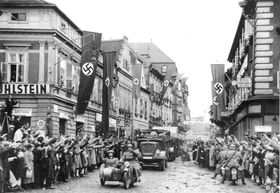 Nazis in Czechoslovakia in 1938, photo: Wikimedia Commons / PD