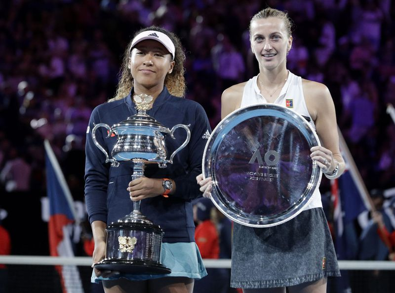Naomi Osaka and Petra Kvitová (Foto: ČTK / AP Photo / Aaron Favila)