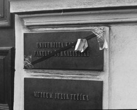 Факультет журналистики Карлова университета, Фото: Archiv Jiřího Venclíka, ÚSTR
