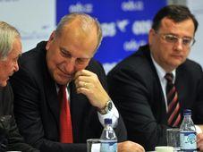 Přemysl Sobotka, Evžen Tošenovský, Petr Nečas, photo: CTK