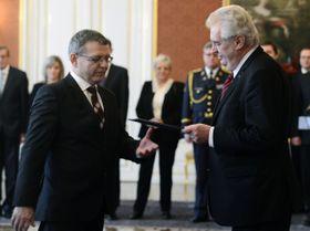 Lubomír Zaorálek und Miloš Zeman (Foto: ČTK)