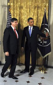 Jan Fischer y Barack Obama, foto: ČTK