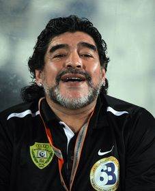 Diego Maradona, photo: Doha Stadium Plus Qatar, CC BY 2.0