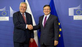 Miloš Zeman, José Barroso, foto: ČTK