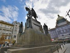 Statue of Saint Wenceslas at Wenceslas square in Prague, photo: Ondřej Tomšů