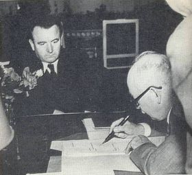 Клемент Готвальд и Эдвард Бенеш в 1948 г.