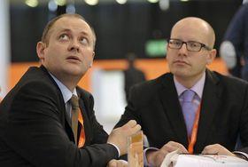 Michal Hašek et Bohuslav Sobotka, photo: CTK