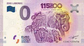 Eurobankovka připomínající 115. výročí založení Zoo Liberec, foto: archiv Zoo Liberec