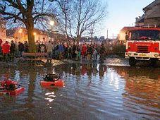 Záplavy v Třebíči, foto: ČTK