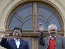 Xi Jinping y Miloš Zeman, foto: ČTK