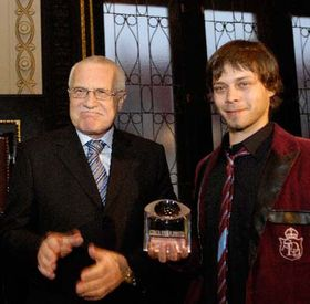 Vaclav Klaus and Michal Cizek, photo: CTK