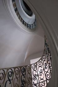 Santinis selbsttragendes Treppenhaus (Foto: Martina Schneibergová)
