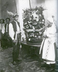 Brautpaar Strání vor 1915 (Foto: Archiv des Comenius-Museums)