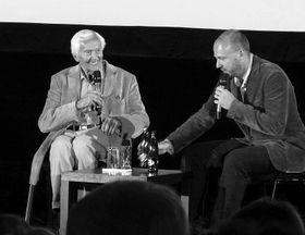 Мирослав Зикмунд и режиссер фильма Петр Горкий (Фото: Кристина Макова, Чешское радио - Радио Прага)