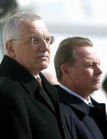 Václav Klaus y Rudolf Schuster, foto: CTK