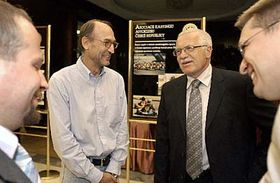 Jiri Tutter and President Vaclav Klaus, photo: CTK