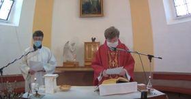 On-line mass in Valašská Polanka, photo: YouTube