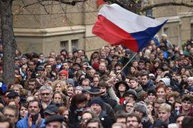 Las manifestaciones del 17 de noviembre en Praga, Albertov, foto: ČTK, foto: ČTK