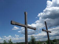 Kříže v dějišti bitvy u Zborova, foto: Martina Bílá