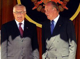 Václav Klaus con el rey Juan Carlos I. (dra.), foto: CTK