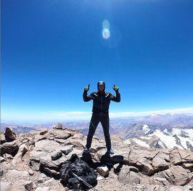 Martin Zhor au sommet de l'Aconcagua, photo: Archives de Martin Zhor