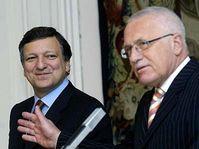 Глава Европейской комиссии Жозе Баррозу и президент Вацлав Клаус (Фото: ЧТК)
