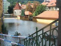 Kampa during floods 2002