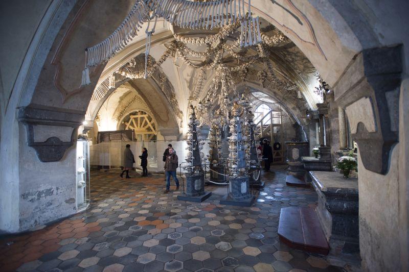 L'ossuaire médiéval de Kutná Hora-Sedlec, photo: ČTK / Josef Vostárek