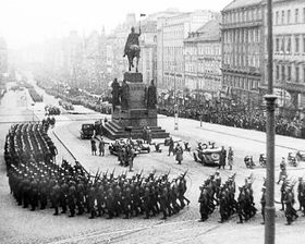 German troops at Wenceslas Square, March 1939, photo: Czech Television