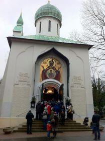Храм Успения Пресвятой Богородицы на Ольшанском кладбище Праги. Фото: Катерина Айзпурвит