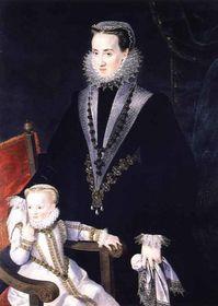 María Manrique de Lara (a la derecha)
