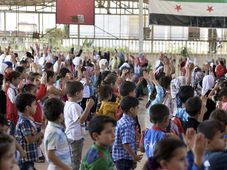 Kinder in Syrien (Illustrationsfoto: ČTK / AP / Ugur Can)