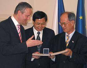 Cyril Svoboda y los premiados de Seúl Corea del Sur
