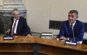 Miloš Zeman, Andrej Babiš, photo: ČTK/Michal Krumphanzl