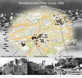 Бомбардировка Праги в 1945 г. (Фото: Михал Йиндра, Чешское радио)